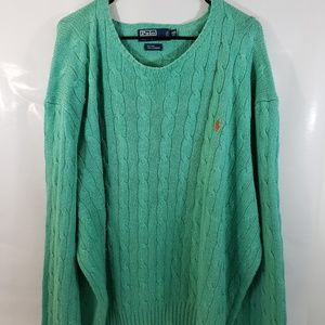 Polo Ralph Lauren Women 4XB Green Sweater Cashmere